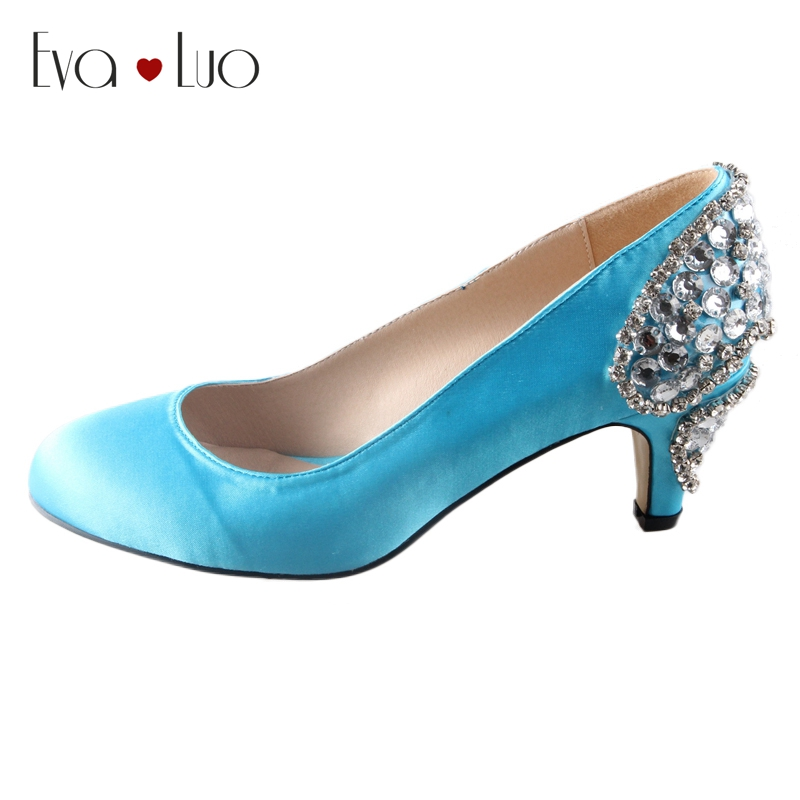 Turquoise Wedding Heels: Aliexpress.com : Buy CHS444 Custom Handmade Aqua Blue