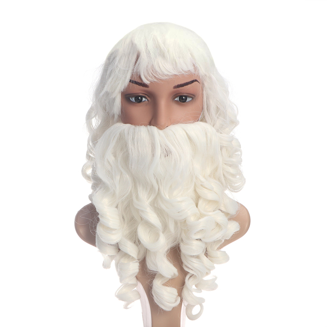ae7b96a15dd Santa Claus Beard And Wig Set Costume Santa Beard And Wig For Christmas
