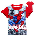 5 pieces/lot 2016 New Summer Style Cotton Spiderman Boys T Shirts Kids Menino Clothing Tee Boys Outwear Child's Clothes