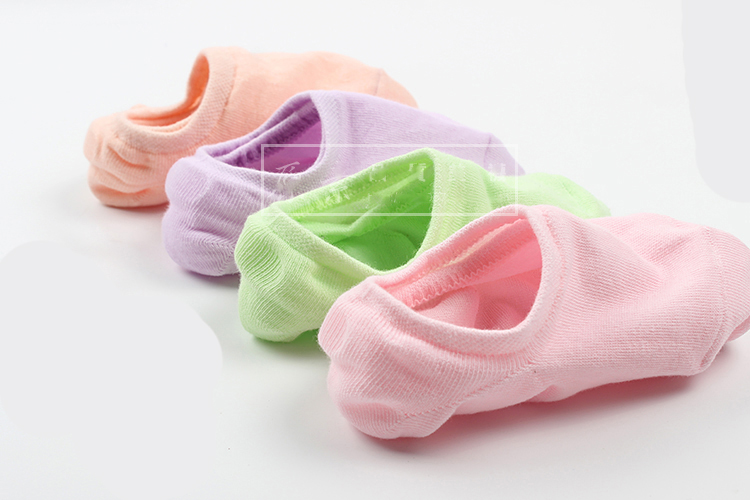 Comfortable cartoon ankle invisible women socks cute female men Ladies bamboo no show socks Hosiery Female 5pairs/lot 4