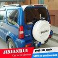 Спойлер для Jimny 2007-2014 Suzuki JIMNY спойлер DLEK ABS пластик Материал заднее крыло автомобиля Цвет задний спойлер