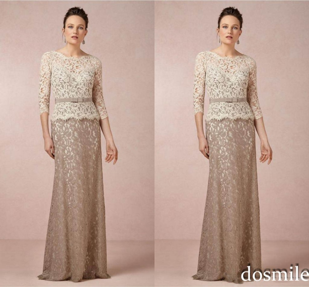 2e56fb2bb5 2017 Plus Size Lace Mother of the Bride Dresses Two Pieces 3/4 ...