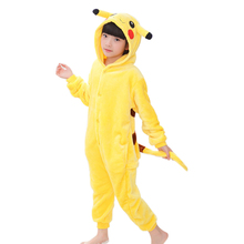 Kids pyjama Baby Boys Girls Unicorn Panda Pikachu Totoro Pig Children pajamas set Flannel Stitch Animal Pajamas Onesies
