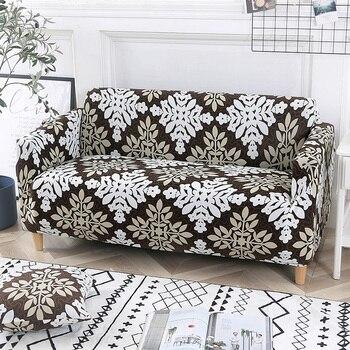 Cubierta Universal del sofá de la cubierta del banco floral del poliester cubre los muebles elásticos del estiramiento para la Navidad