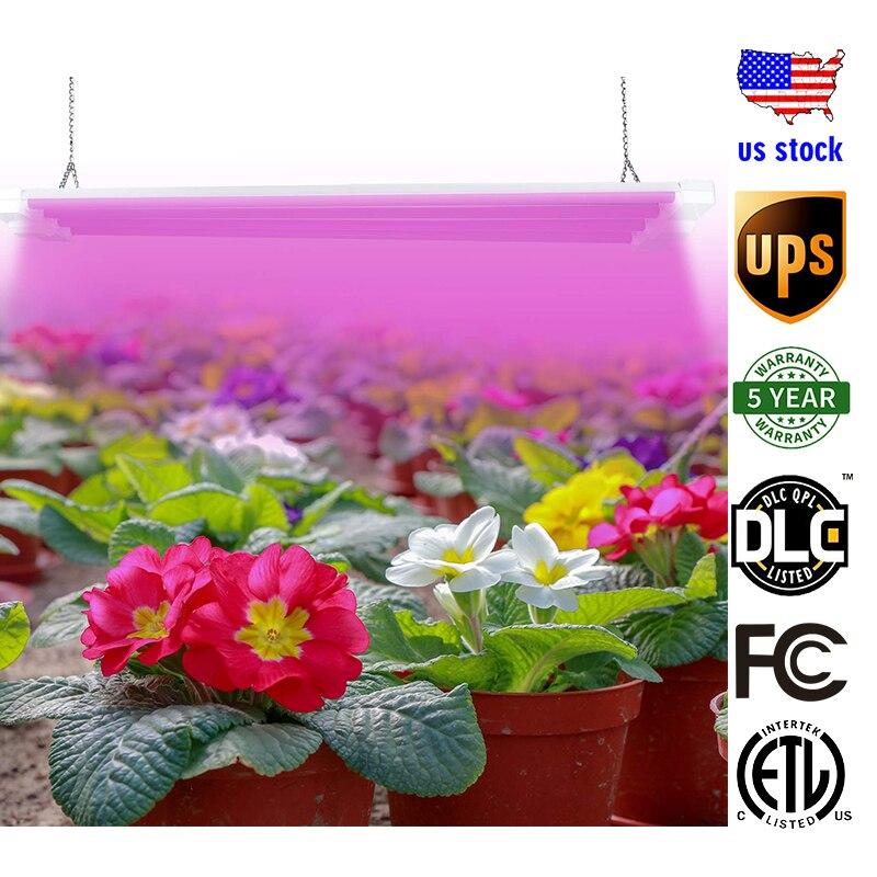 LED élèvent la lumière 600 W spectre complet élèvent la fleur avec la lampe de croissance de puce LED 4FT la bande de LED élèvent la lumière pour la plante Veg 5 ans de garantie