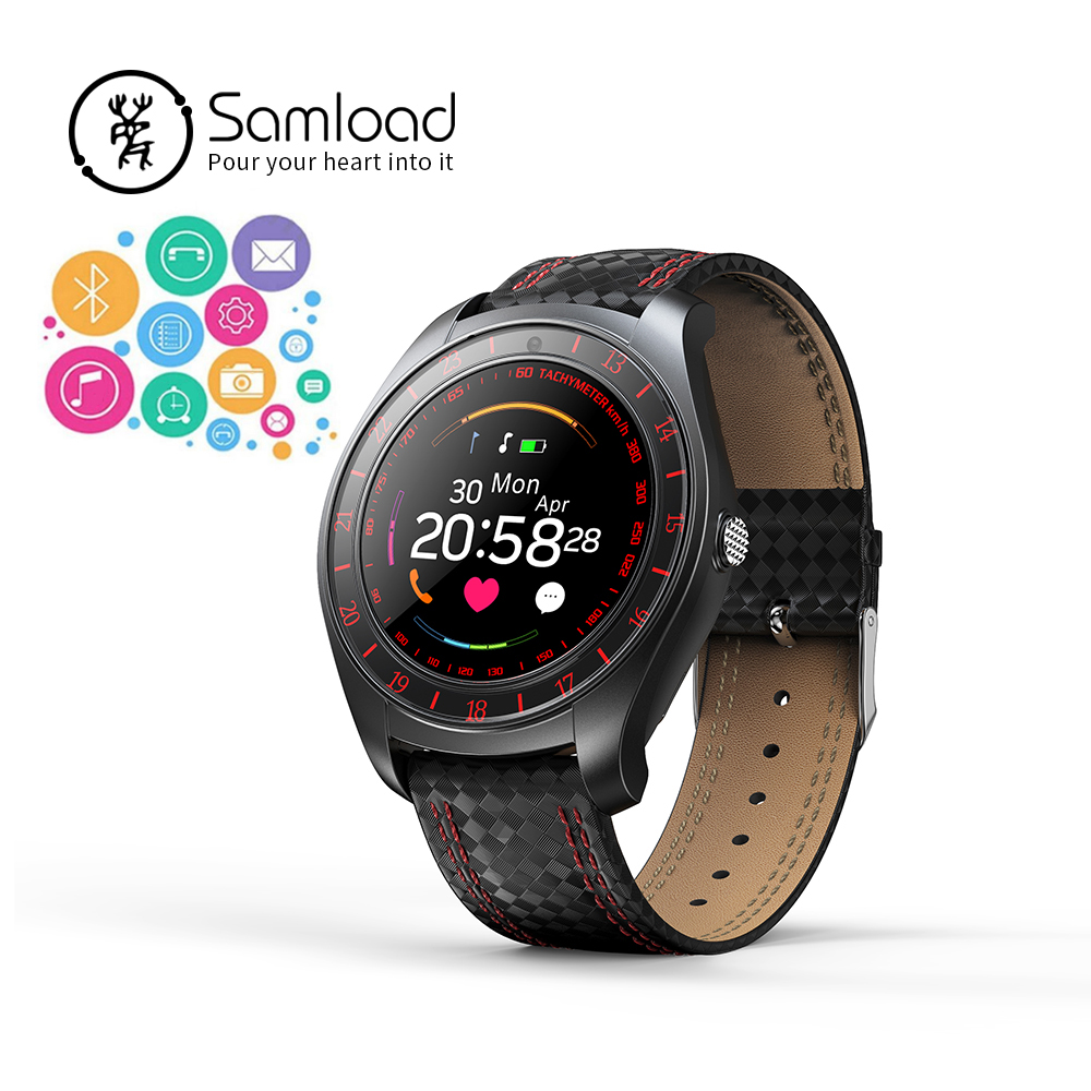 Samload Bluetooth Smart Watch Sport Band Fitness pista ritmo cardíaco Passomer reloj despertador para Apple iPhone7 8 Xiaomi Samsung Huawei