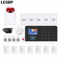 Экстренный дистанционный управление голосовые подсказки беспроводной дверной датчик домашней безопасности GSM сигнализация ЖК дисплей Бес