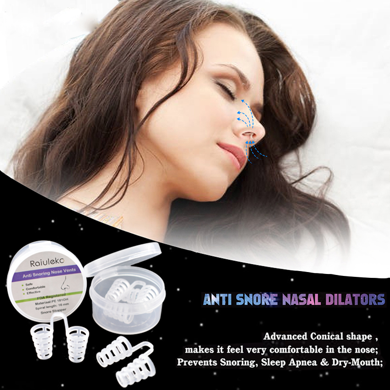 8Pcs Anti Snoring Device Breathe Easy Nasal Dilators No Strips Nose Clips Sleep Aid Healthy Sleeping Aid Equipment Stop Snoring anti snore nasal dilators breathe easy stop snoring cones congestion aid