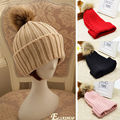 New Women's Winter Warm Crochet Knitting Hats Beret Ski Beanie Ball Caps Hats