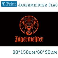 3x5ft пользовательский флаг черный флаг Егермейстера с черным рукавом деятельности полиэфирные баннеры летающие для бара Вечерние