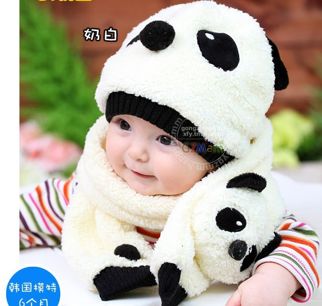 Free Shipping Wholesale Winter Baby Child Cute Panda Pattern Hat