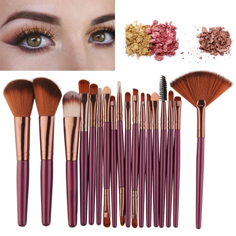Professional Makeup Brushes Set Comestic Powder Foundation Blush Eyeshadow Eyeliner Lip Beauty Make up Brush Tools 18 Pcs new 32 pcs makeup brush set powder foundation eyeshadow eyeliner lip cosmetic brushes kit beauty tools fm88