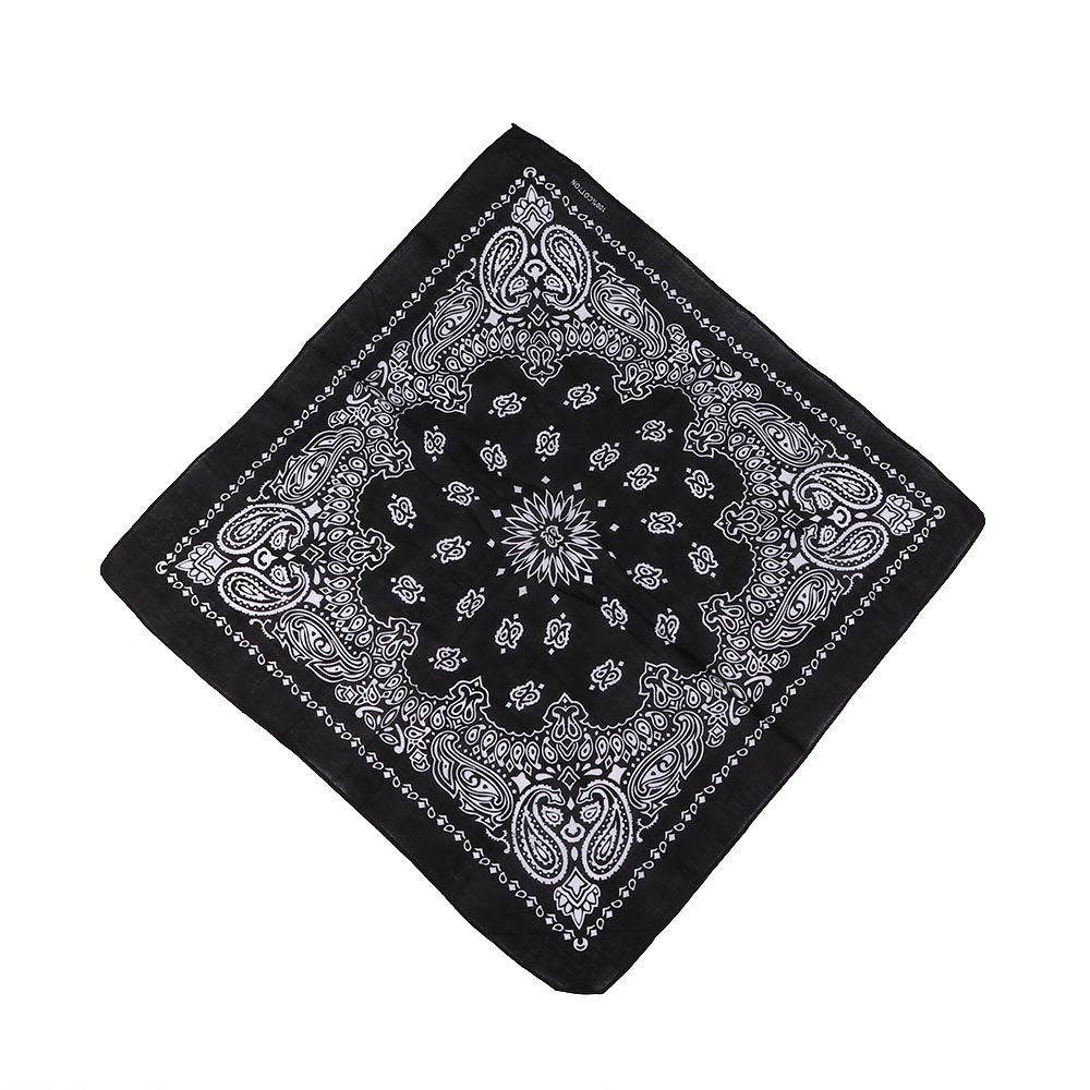55cm*55cm Cotton Hip Hop Paisley Bandana Square Scarf Head Wrap Neck Wrist Band Handkerchief For Graffitin B-boyin Extreme Sport