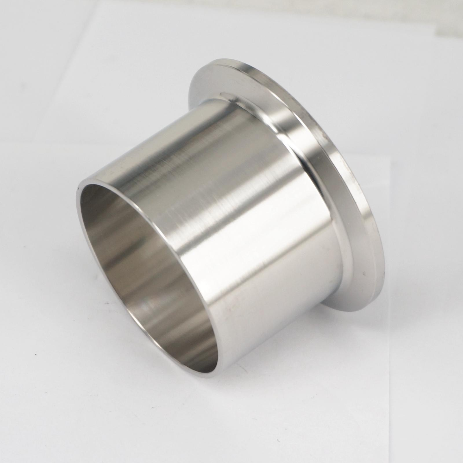 51mm 2 Tube O/D x 2 Tri Clamp x 40mm Height 304 Stainless Steel Sanitary Weld Ferrule Connector Pipe Fitting