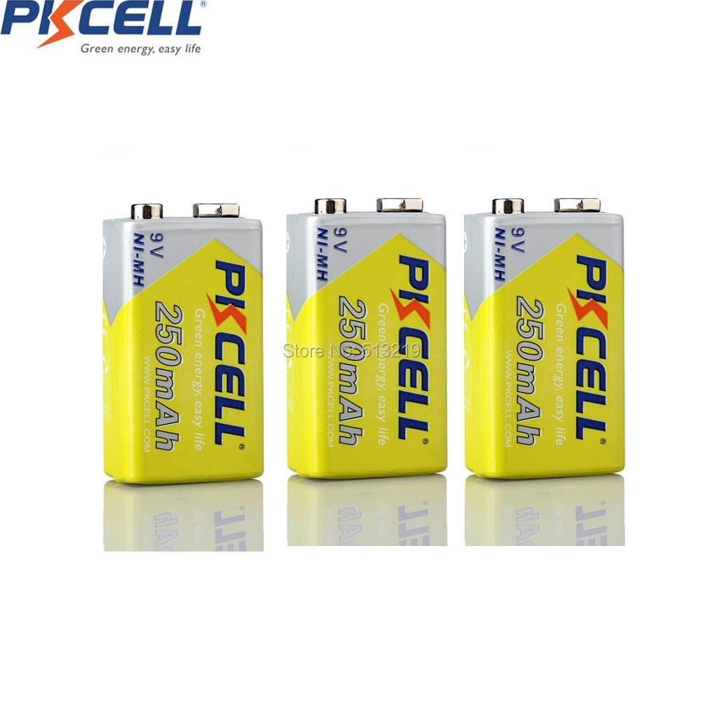 3 X 9v Nimh 250mah Rechargeable Battery 6lr61 E22 Mn1604