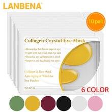 LANBENA 24 K Gold Eye Mask Collagen Face Care Ageless Anti Aging Eye Bags Dark Circles Moisturizing Skin Care 20PCS= 10 Piars zildjian 10 k custom dark splash