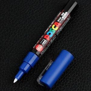 Image 5 - 8 kolorów zestaw Mitsubishi Uni Posca PC 1M Marker farby Extra Fine Bullet Tip 0.7mm 8 kolorów Art markery biurowe i szkolne