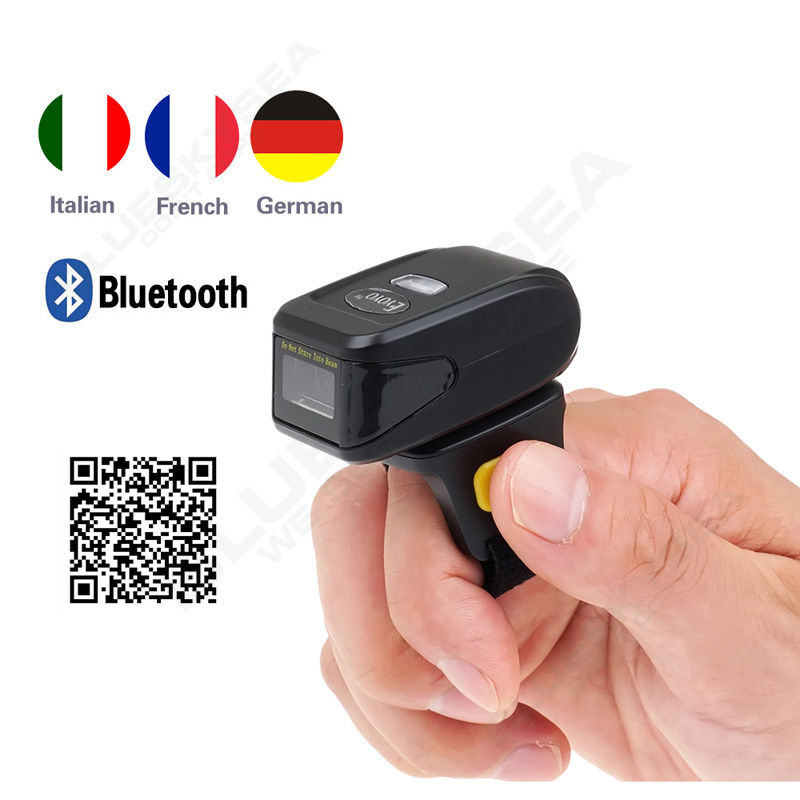 EYOYO MJ-R30 Mini Bluetooth Portable Ring 2D Scanner Barcode Reader For IOS Android Windows free shipping mj 2877 pocket portable wireless 2d barcode scanner usb bluetooth v4 0 qr bar code reader for android ios windows