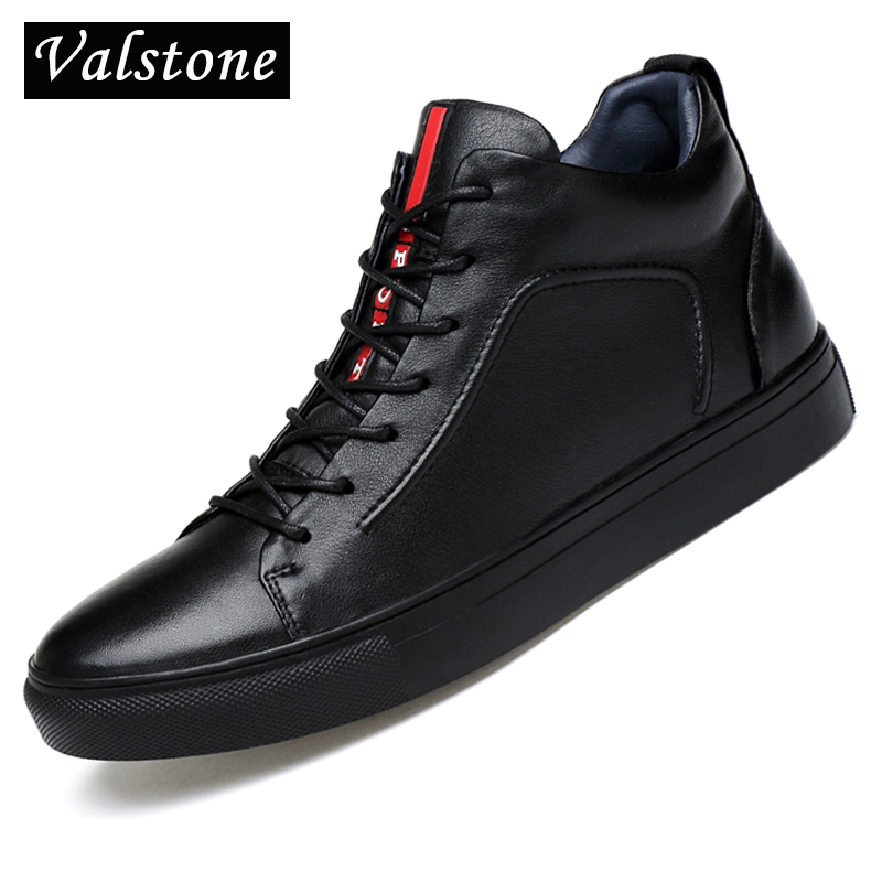 Valstone Luxury Brand Men Casual Genuine leather Shoes super autumn winter waterproof sneakers lace up Flats