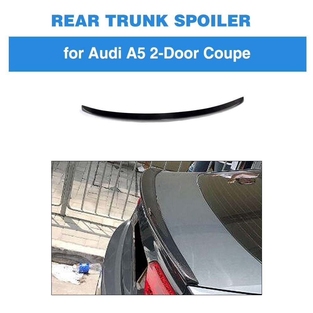 Carbon Fiber Car Rear Trunk Spoiler Wing Boot Lip for Audi A5 A5 Quattro 2 Door Coupe 2017 2018 2019 S5 Style