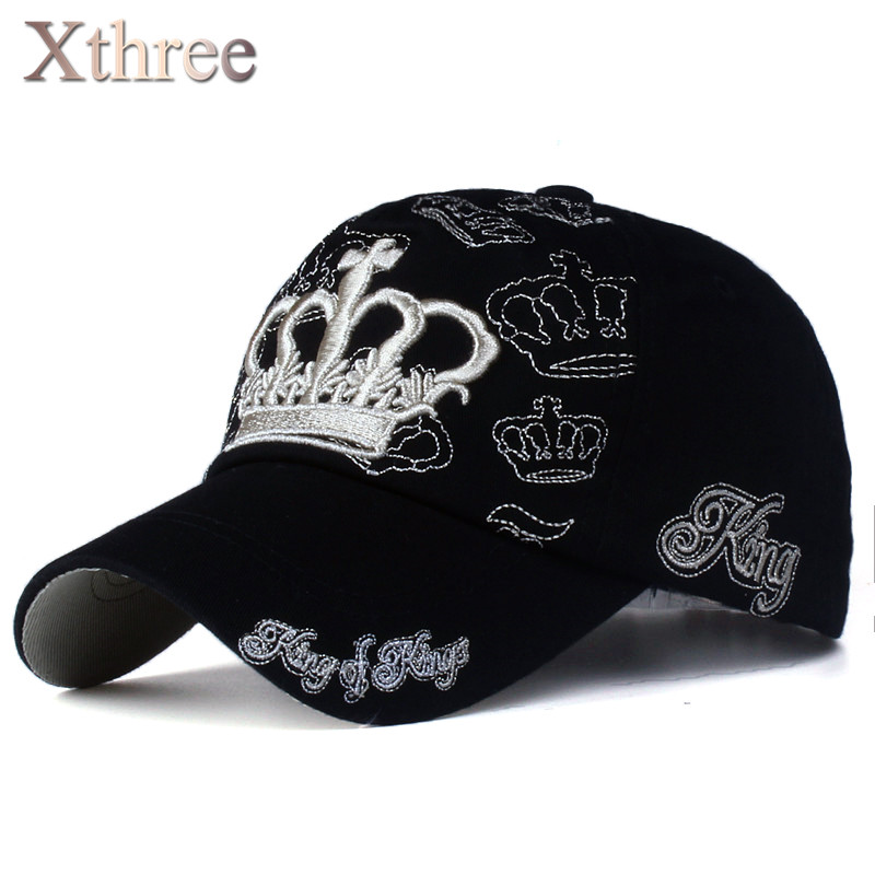 xthree  gold embroidery crown baseball cap parent child cap Kids snapback  caps for women bd0bf60ff1b2