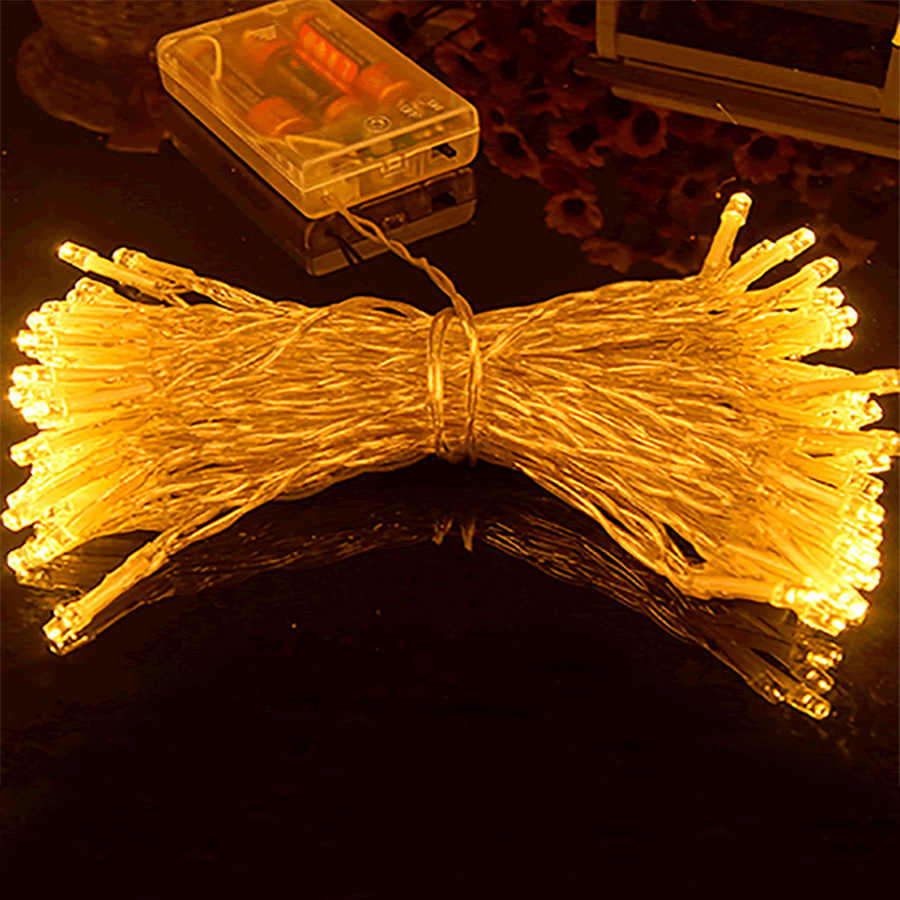 3 متر 30 المصابيح الفضة سلسلة LED أضواء Christamas شجرة صغيرة مصباح عمود مستقرة/وميض العمل وضع رومانسية الحب يوم حزب