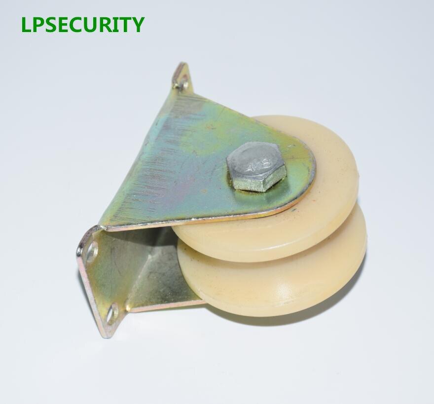LPSECURITY 2 Inch Nylon (V U Groove Options) Pulley Wheel  For Iron Gate/slide Wheel Roller For Swing/sliding Door