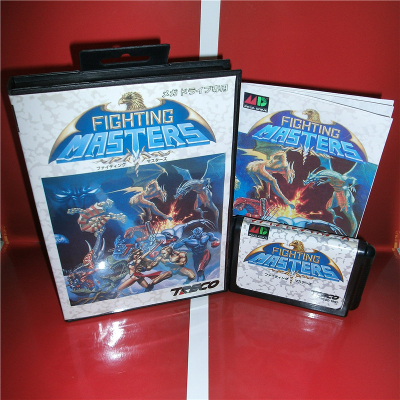 Fighting Masters Japan Cover with box and manual for Sega MegaDrive Genesis Video Game Console 16 bit MD card