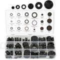 Набор резиновых втулок с уплотнительным кольцом, проволочное кольцо, ассортимент, электрический провод, прокладочный инструмент, заглушка,...