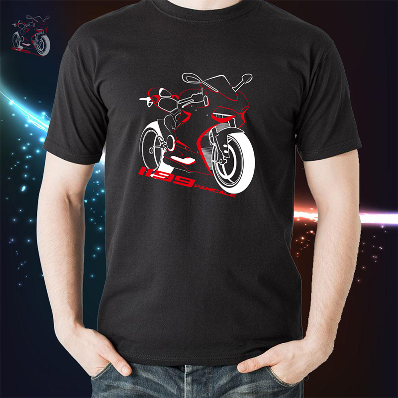 KODASKIN Motorcycle tshirt Tee Shirts Men Tops Tees T shirt for Ducati Panigale 1199 in Shirts Tops from Automobiles Motorcycles