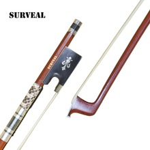 SURVEAL Wholesale Professional Brazilwood Violin Bow Snakeskin Inlayed With Warm Sound Size: 1/4 ,1/2, 3/4, 4/4 ,1/8