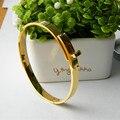 Box Bangle H Stainless Steel Bracelet Bangle for Women Men 361L Titanium steel Bangle Silver 18  Gold Plated Rose Gold Bracelet