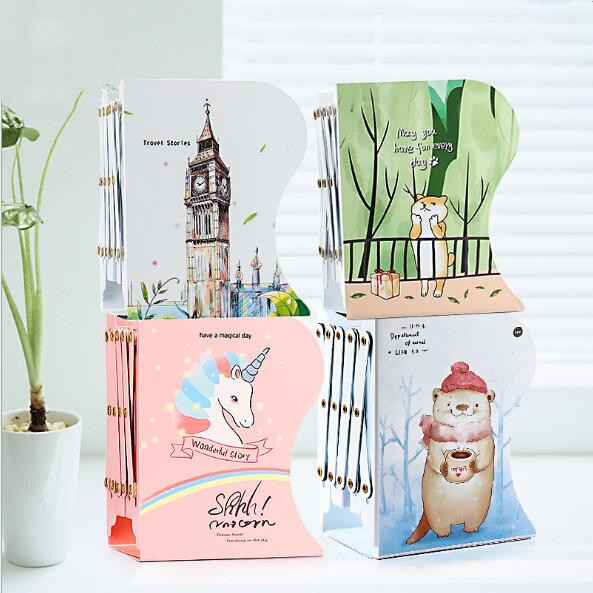 Unicorn Anime Metal Retractable Books Bookends Students Desk Organizer Holder Bookshelf Office School Home Book Shelf Stationery