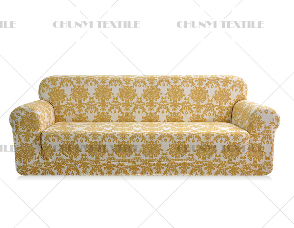 3 seat printed sofa cover spandex fabric couch set cover