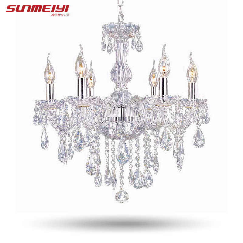 Art deco european candle crystal led swan chandeliers ceiling 2017 cheap crystal chandelier moroccan decor lustres e pendentes de cristal clear chandelier crystal free shipping aloadofball Choice Image