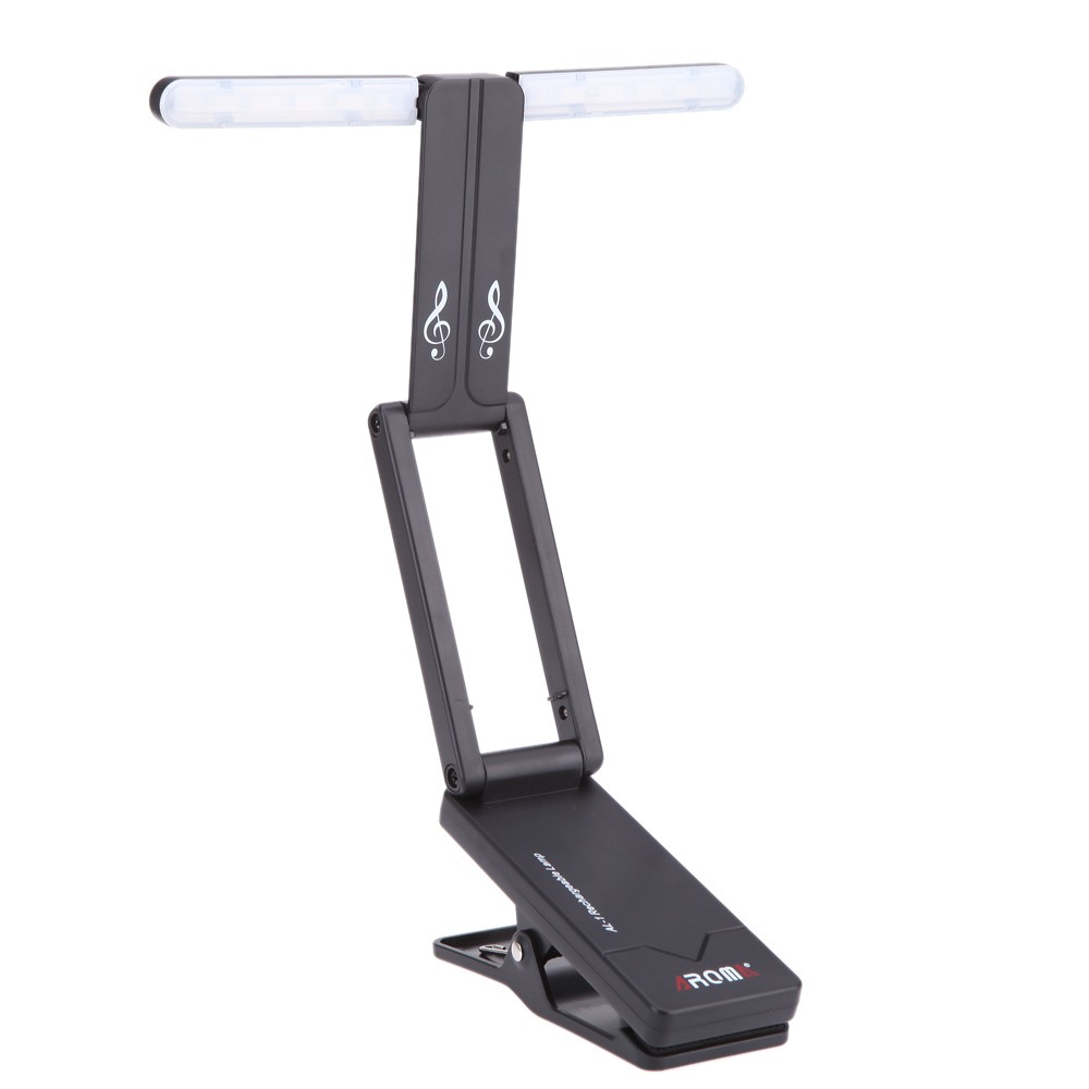 ФОТО Aroma AL-1 Portable Clip-on USB Rechargeable LED Music Stand Lamp For Guitar Piano Comfortable Reading