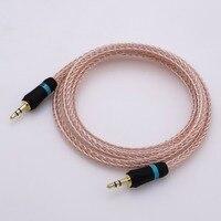 AUX аудио кабель адаптер 2 метра 16 ядер Hybrid 3.5 ММ мужчинами автомобильный усилитель ЦАП телефон MP3