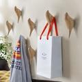 Creative wall hooks bird decoration Resin wood grain hooks bedroom door after the animals Hooks 3D coat hook single wall hanger