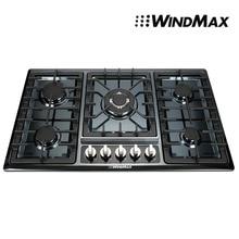 34 » из нержавеющей стали встроенный 5 мини-горелки печи печь газовая плита газовая плита — черный