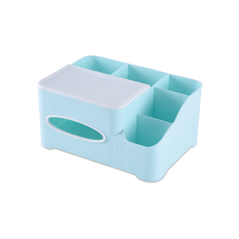 Cosmetic Storage Boxes Multifunction Plastic Desktop Makeup Finishing Box Tissue Box living room Bedroom Organizer Supplies