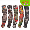40cm quality tattoo sleeves 5pcs Men Women Nylon Temporary Tattoo Arm warmer Oversleeves gloves the most popular set