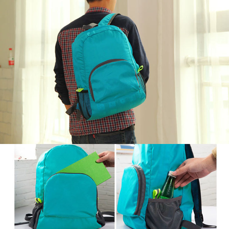 Korean Version Of The New Folding Backpack Outdoor Travel Hiking Bag Waterproof Diamond Shaped Travel Backpack Sports & Entertainment Climbing Bags