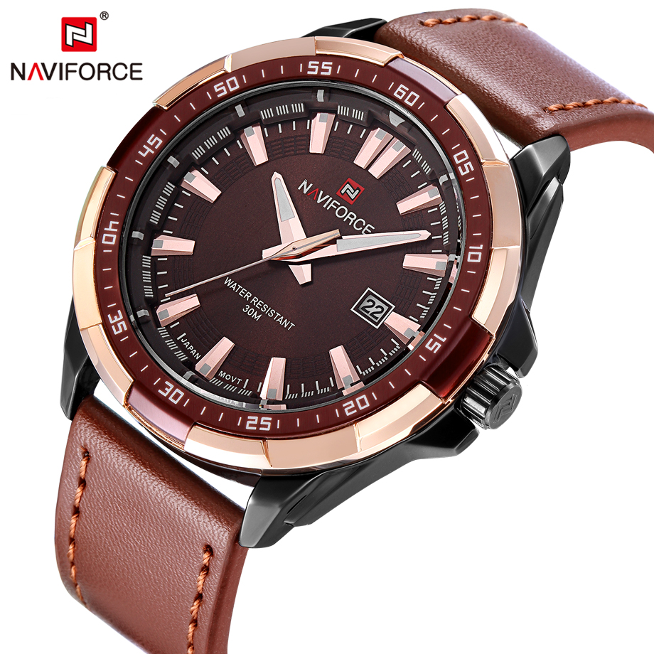 NAVIFORCE Men Watches Fashion Sport Watch Men Casual Calendar Quartz Watches Military Male Clock Waterproof Relogio Masculino weide new men quartz casual watch army military sports watch waterproof back light men watches alarm clock multiple time zone