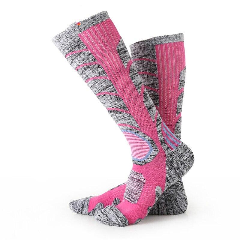 1 Pair Of Men&women Knee-high Socks Cycling Skiing Socks Thickening Warm High Elastic Cotton Socks 7colors Wholesale HEQ263