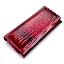 HH Women Wallets and Purses Luxury Brand Alligator Long Genuine Leather Ladies Clutch Coin Purse Female