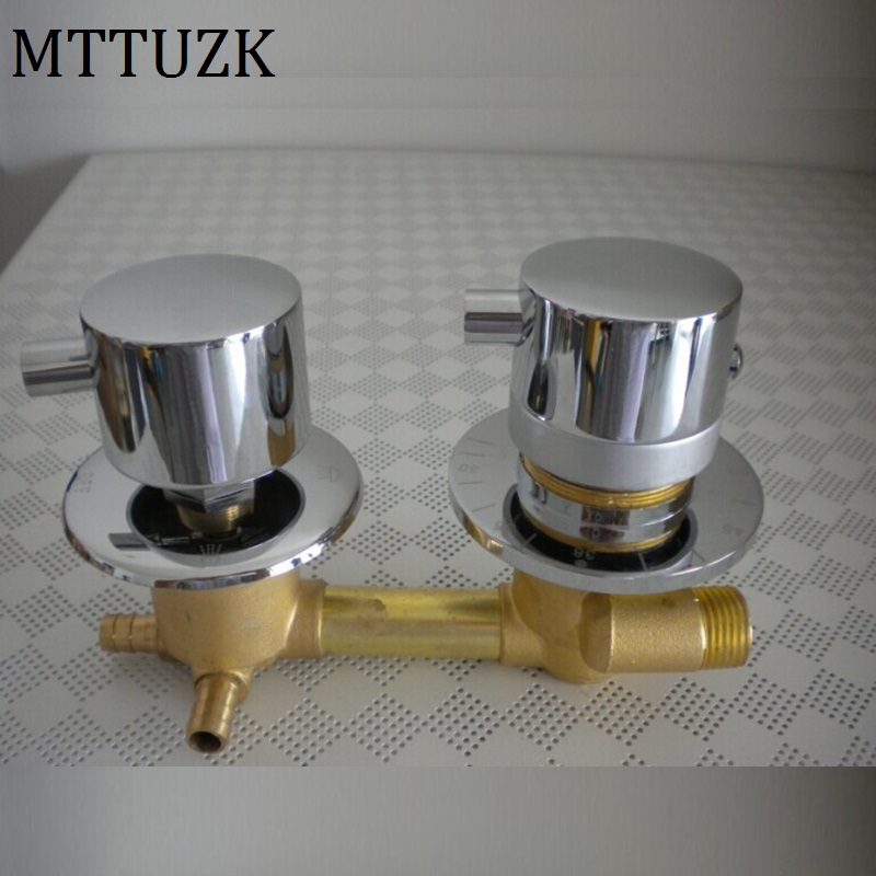 MTTUZK wall mounted 2/3/4/5 Ways water outlet brass constant temperature mixing valve  Shower room thermostatic faucet 1 2 built side inlet floating ball valve automatic water level control valve for water tank f water tank water tower