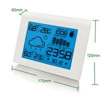 Weather Forecast Desktop Alarm Clock Snooze Character Bedroom Electronic Digital Clock Calendar Temperature Display Backlight