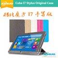 "10.6 ""estojo De Couro para Cubo i7 Stylus/iwork11 stylus, Ultra-fino Suporte Magnético Caso capa de Couro para Cube iwork 11 stylus + presente"