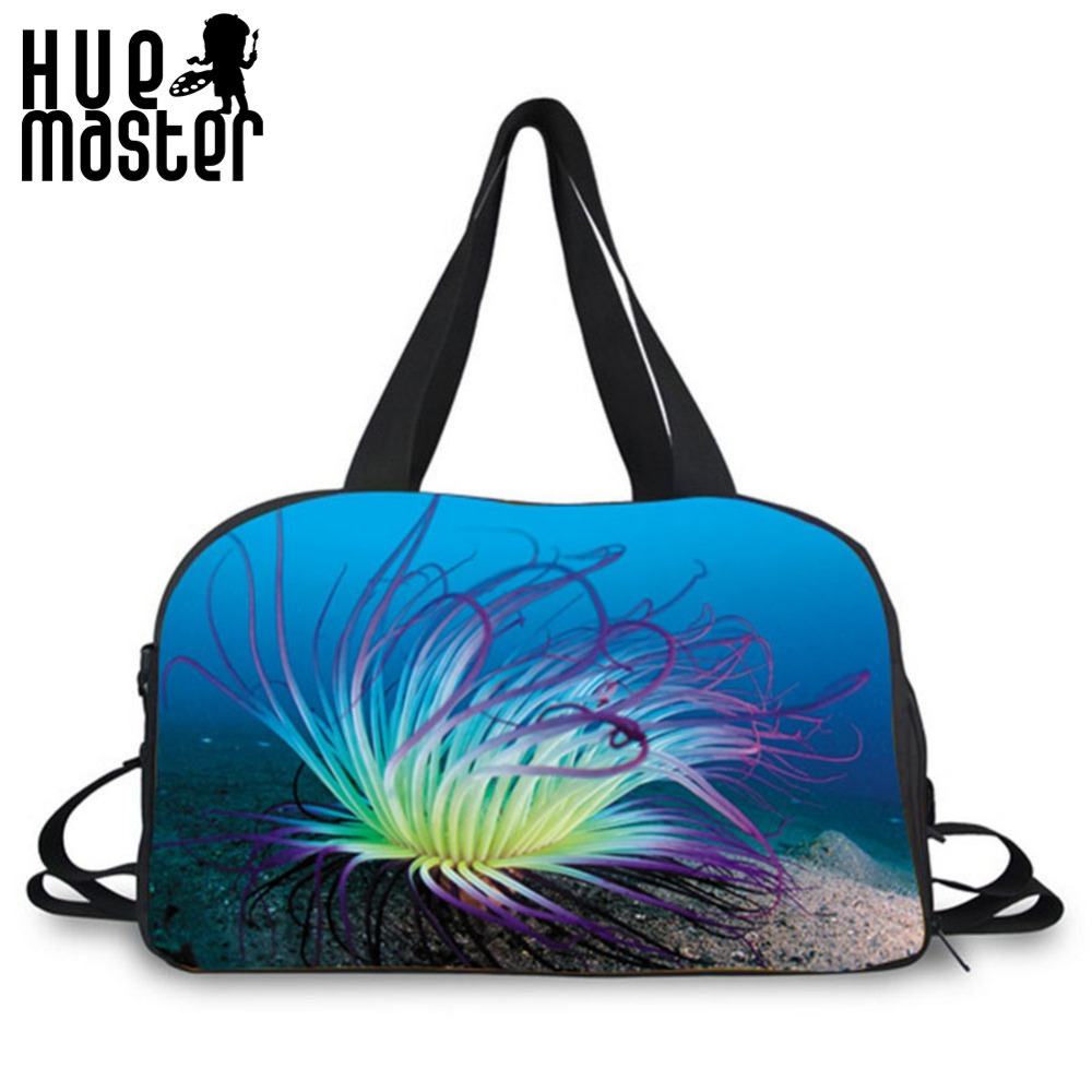 HUE MASTER coral print design boy girl large capacity school duffle bags shoes pocket design duffle bags leisure travel handbags hue starterkit
