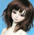 doll accessories 1/3 1/4 1/6 bjd wig doll hair long curly wavy girl wig Multicolour available wire doll wig faux  faux fur- f36